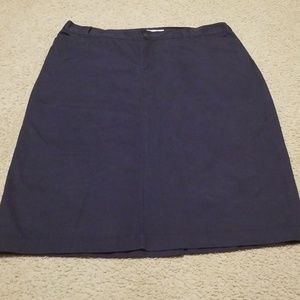 Christopher Banks Navy Khaki Skirt. 20W.